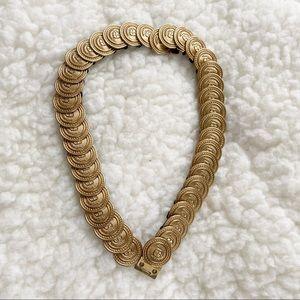 Stretchable Gold Coin Vintage Waist Belt
